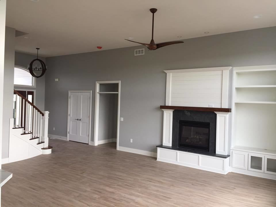 Living Room Remodel Near Burlington