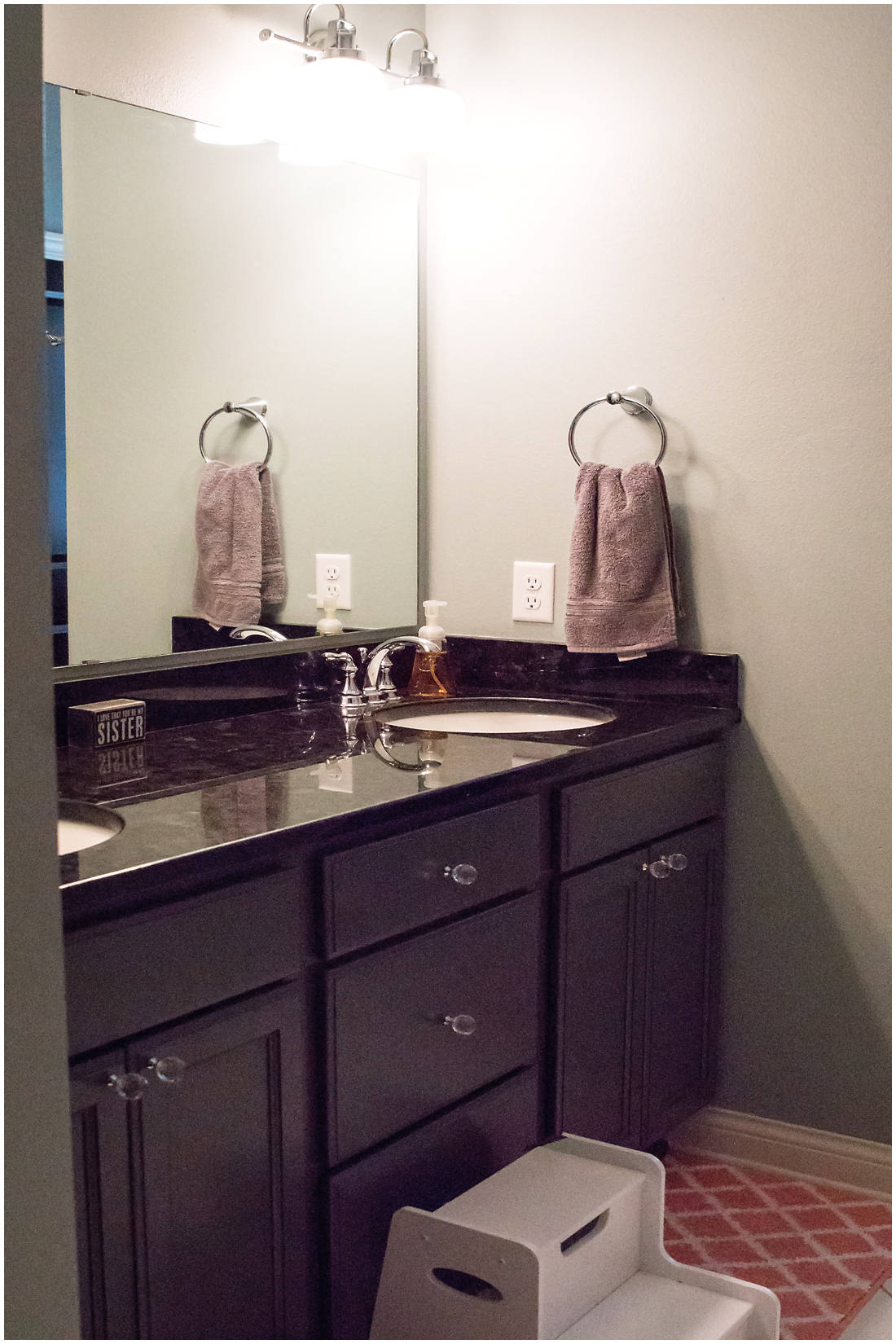 Custom Guest Bathroom w/ Marble Counter