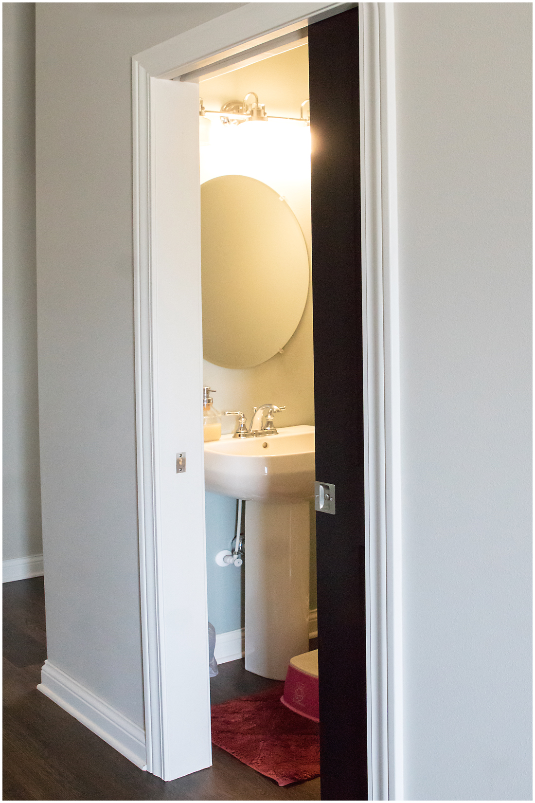 Half Bath with Pocket Doors
