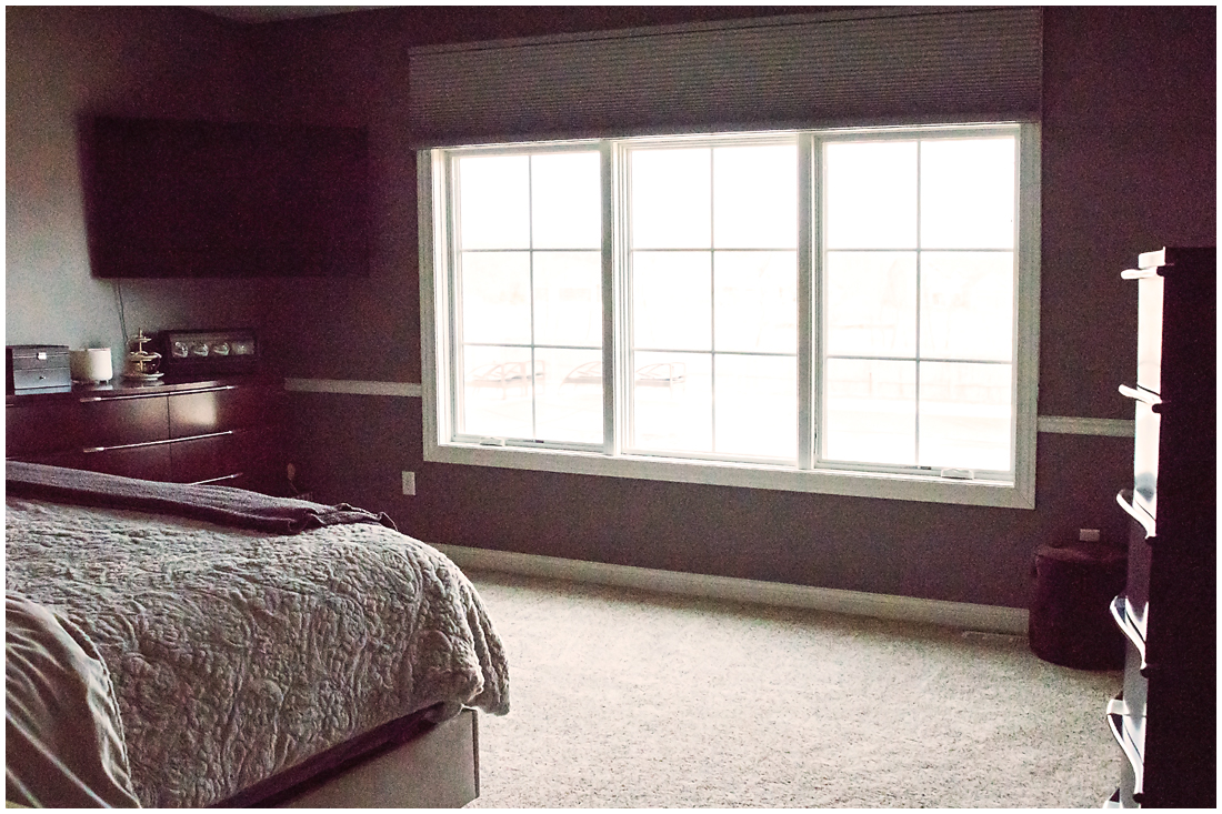 Master Bedroom with Custom Windows